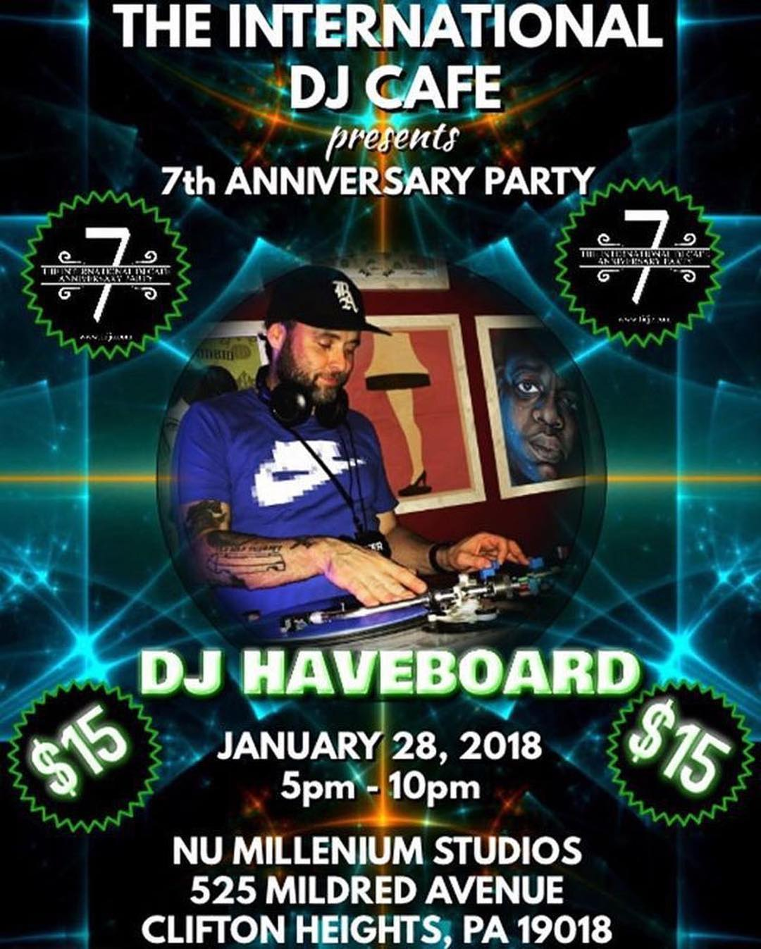 @haveboard ・・・ I'm working on a hot 15 minute set to showcase this Sunday at the @internationaldjcafe's 7 year anniversary party @numstudios alongside a great list of heavy hitting DJs and Artists!. Check the link in the bio, my previous post, or djhaveboard.com for more details! Come check it out, the event is from 5 to 10, $15