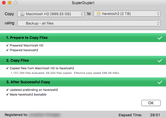 Use SuperDuper! to make a bootable backup of your Mac!